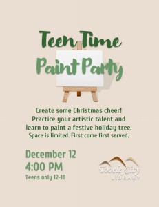 Paint Party (Teen Time) @ Tooele City Library | Tooele | Utah | United States