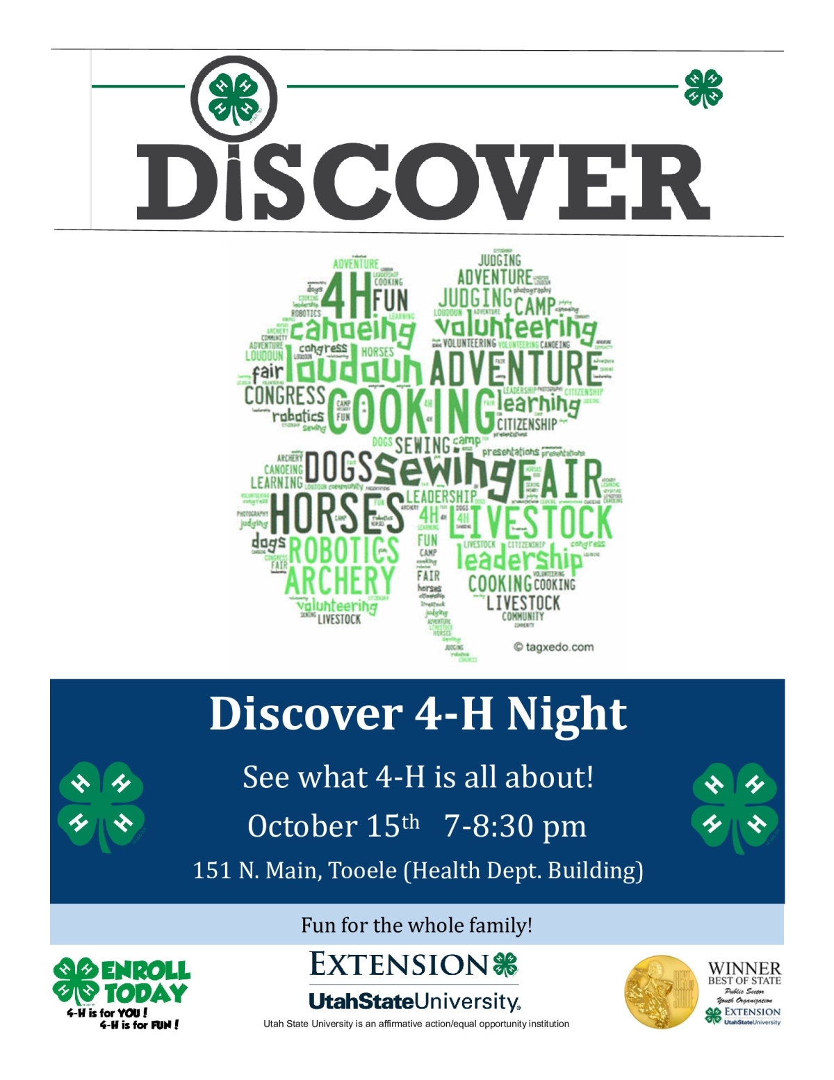 Discover 4-H Night @ Health Department Building