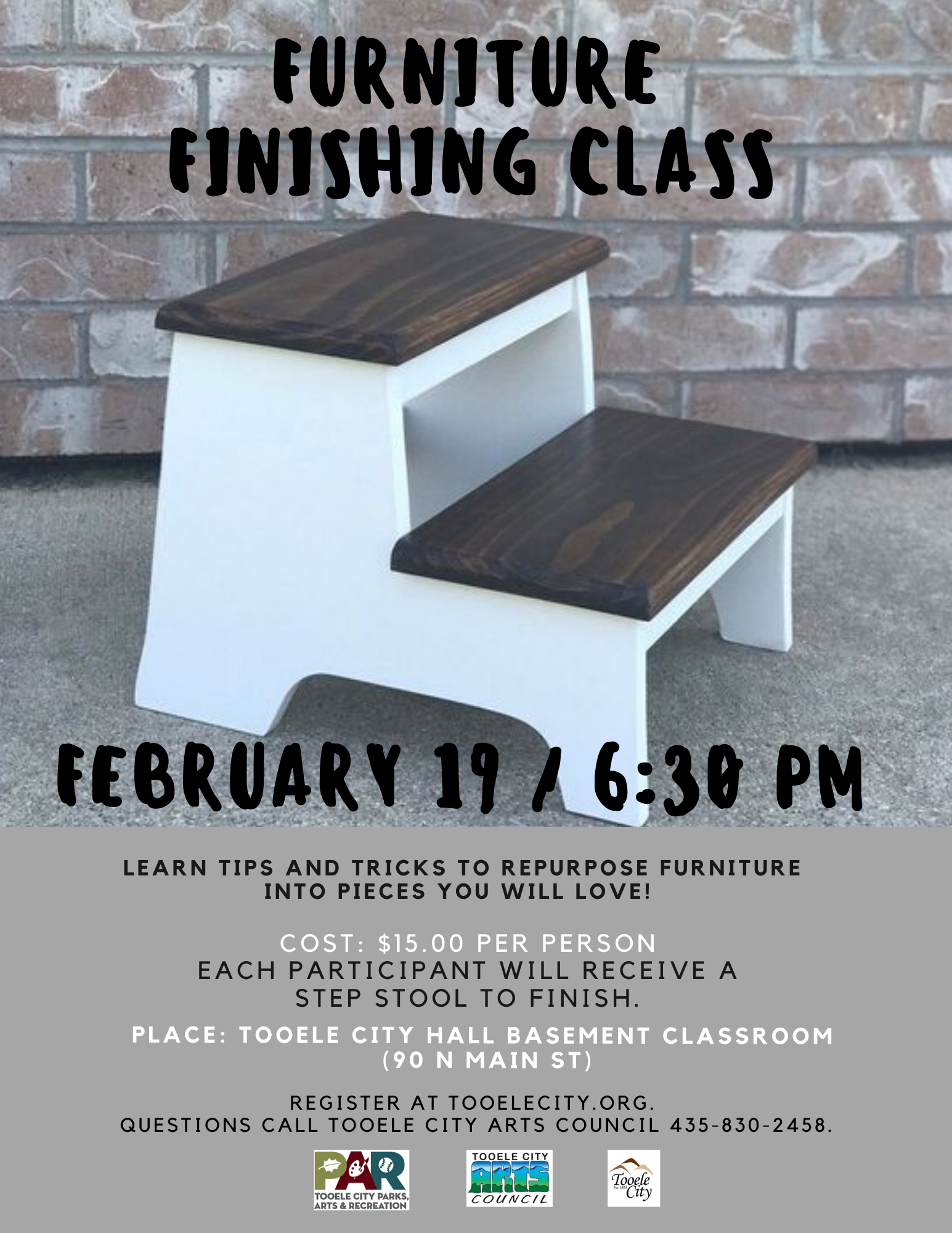 Furniture Finishing Class @ Tooele City Hall (Basement Classroom) | Tooele | Utah | United States