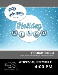 Holiday Bingo (Wacky Wednesday) @ Tooele City Library | Tooele | Utah | United States