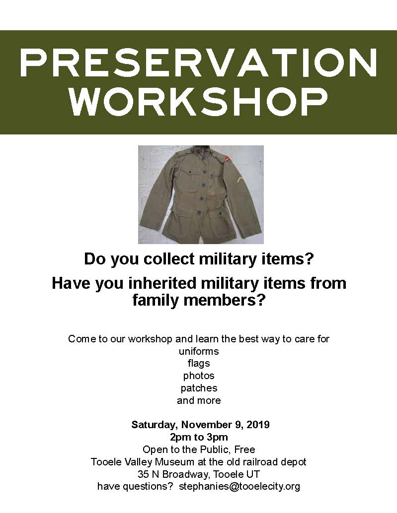 Preservation Workshop @ Tooele Valley Museum