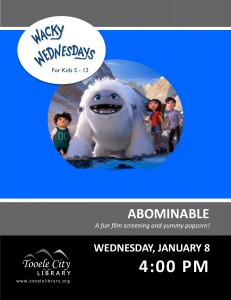 Film: Abominable (Wacky Wednesday) @ Tooele City Library | Tooele | Utah | United States