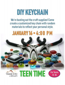 DIY Keychain (Teen Time) @ Tooele City Library | Tooele | Utah | United States