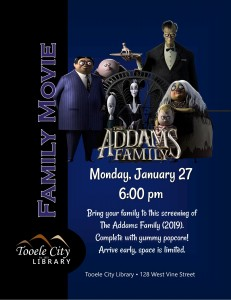 Family Movie: The Addams Family (2019) @ Tooele City Library | Tooele | Utah | United States