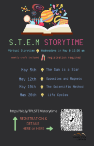 STEM Storytime (Virtual) @ Online - Tooele City Library | Tooele | Utah | United States