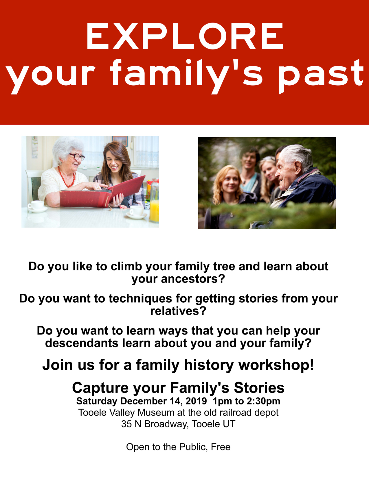Family History Workshop 2019