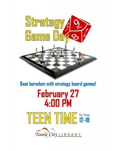 Board Games (Teen Time) @ Tooele City Library | Tooele | Utah | United States