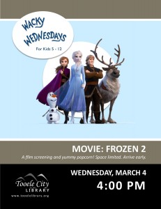 Film: Frozen 2 (Wacky Wednesday) @ Tooele City Library | Tooele | Utah | United States