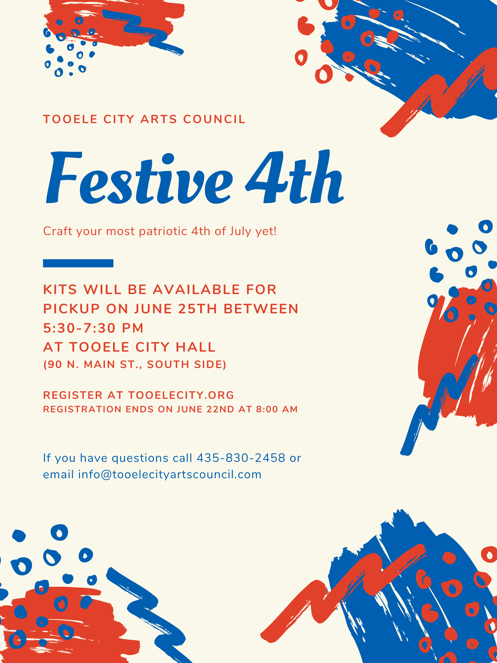 Festive 4th Craft Workshop @ Tooele City Hall | Tooele | Utah | United States