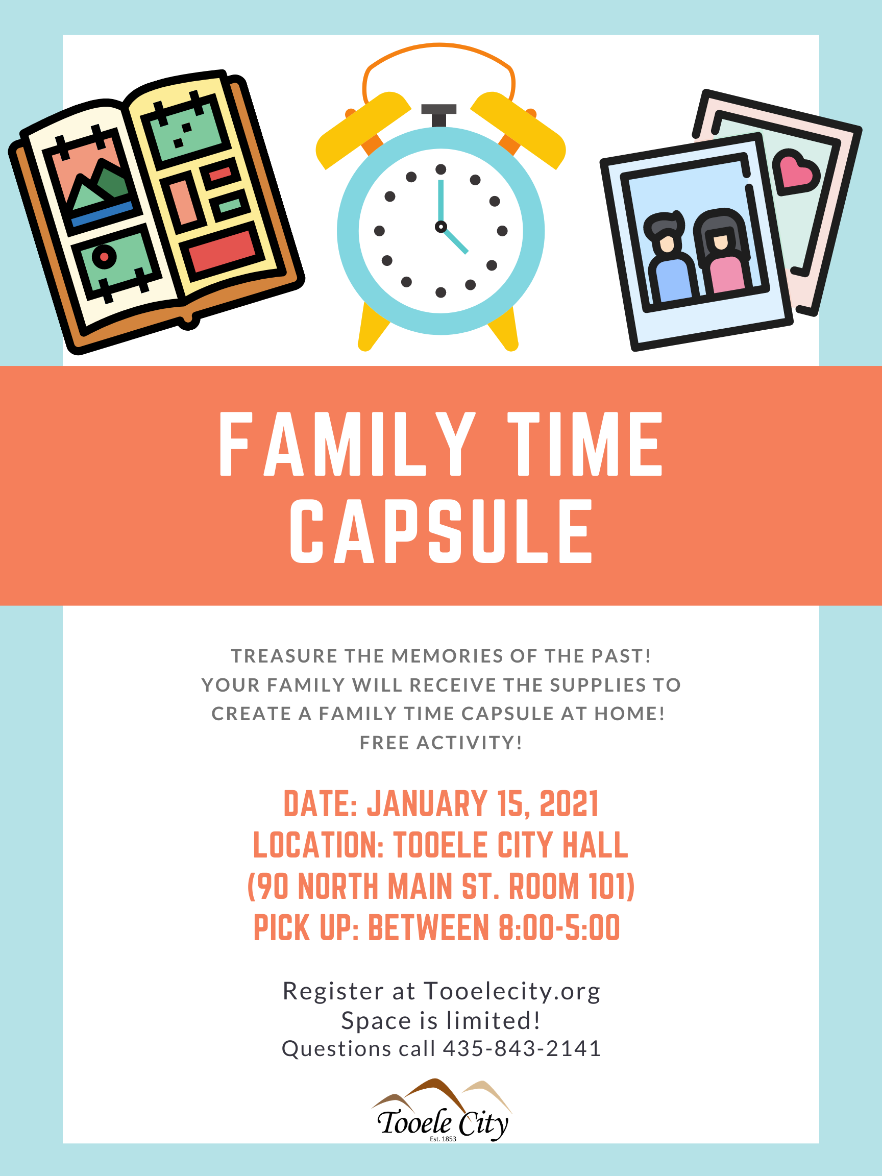 Family Time Capsule (Family Activity) @ Tooele City Hall | Tooele | Utah | United States