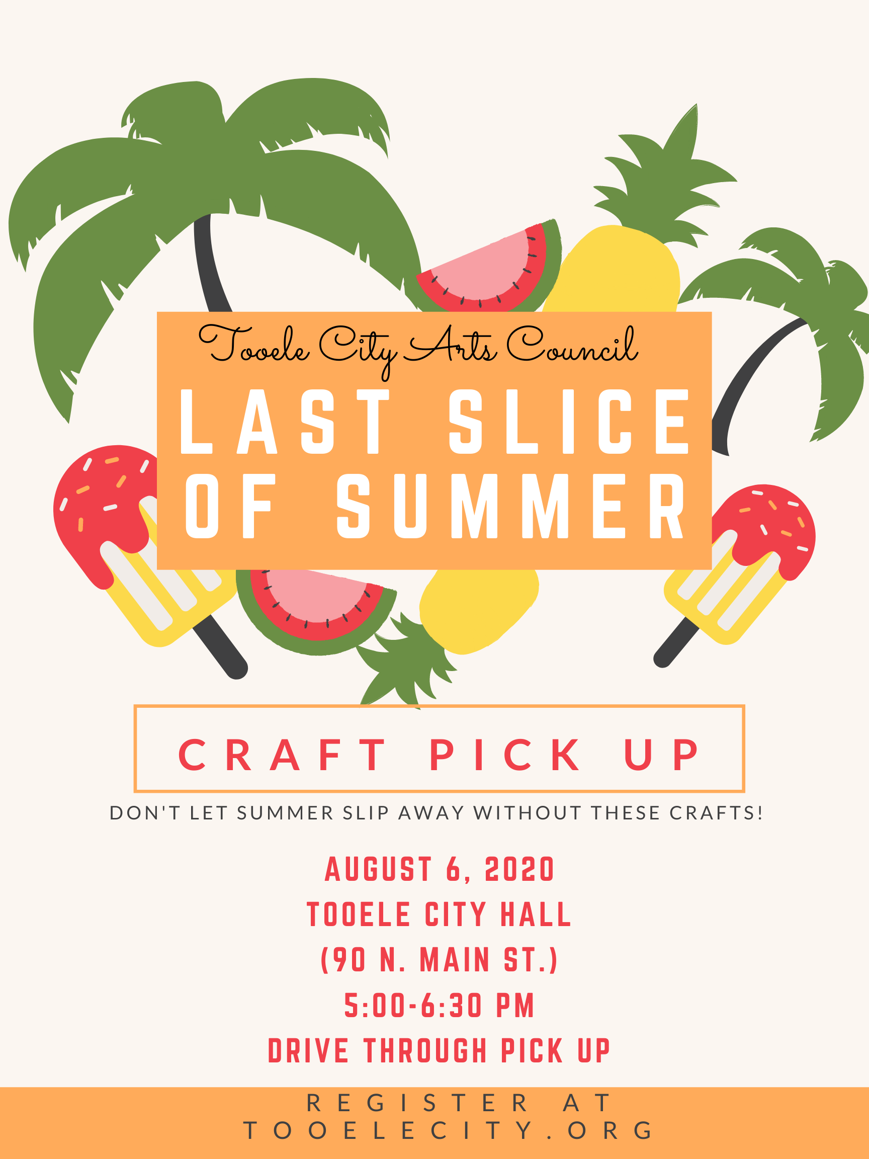 Last Slice of Summer Craft Pickup @ Tooele City Hall | Tooele | Utah | United States