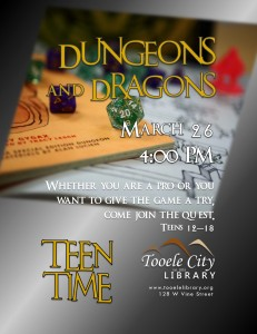 Dungeons and Dragons (Teen Time) @ Tooele City Library | Tooele | Utah | United States