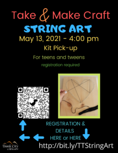 DIY String Art (Teen Time) @ Online - Tooele City Library | Tooele | Utah | United States