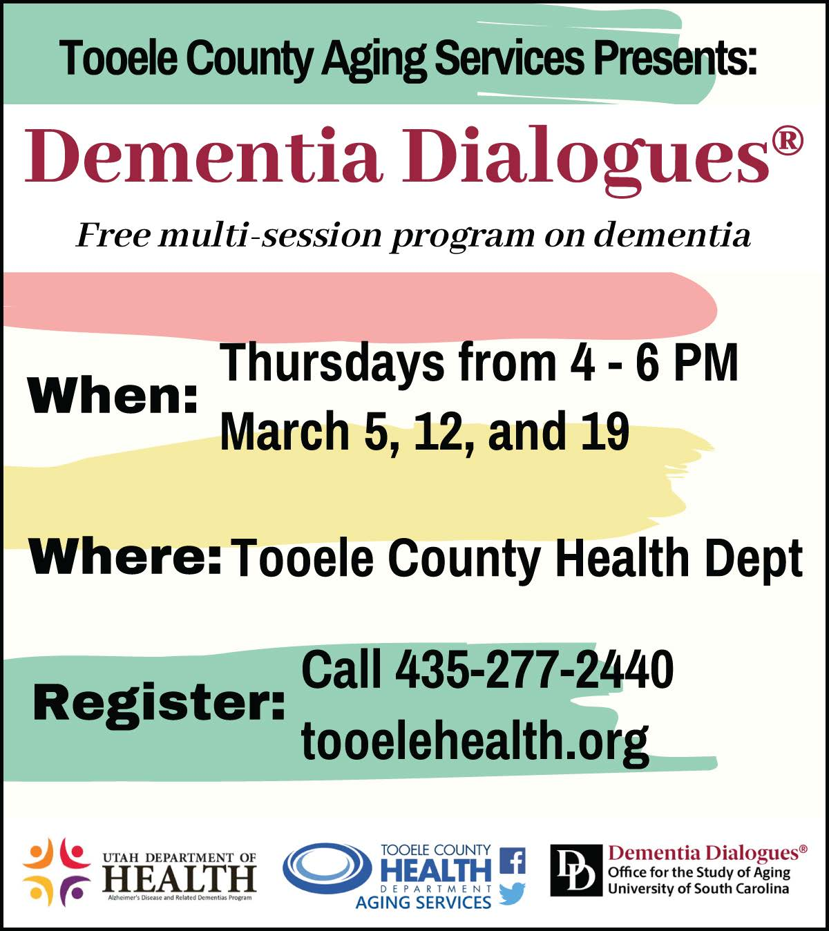 Dementia Dialogues @ Tooele County Health Department