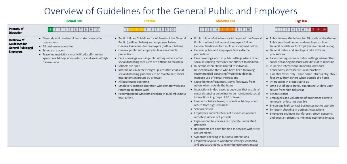 Phased Guidelines for the General Public and Businesses to Maximize Public Health and Economic Reactivation