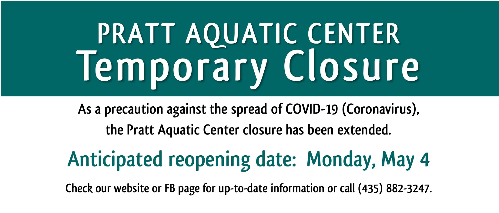PAC Temporary Closure _ Extended