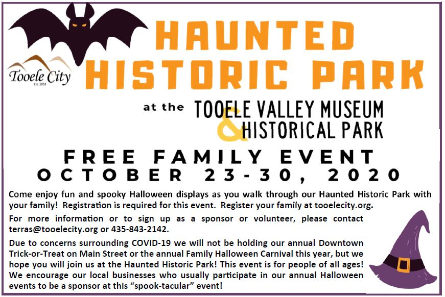 Haunted Historic Park @ Tooele Valley Museum and Historic Park | Tooele | Utah | United States
