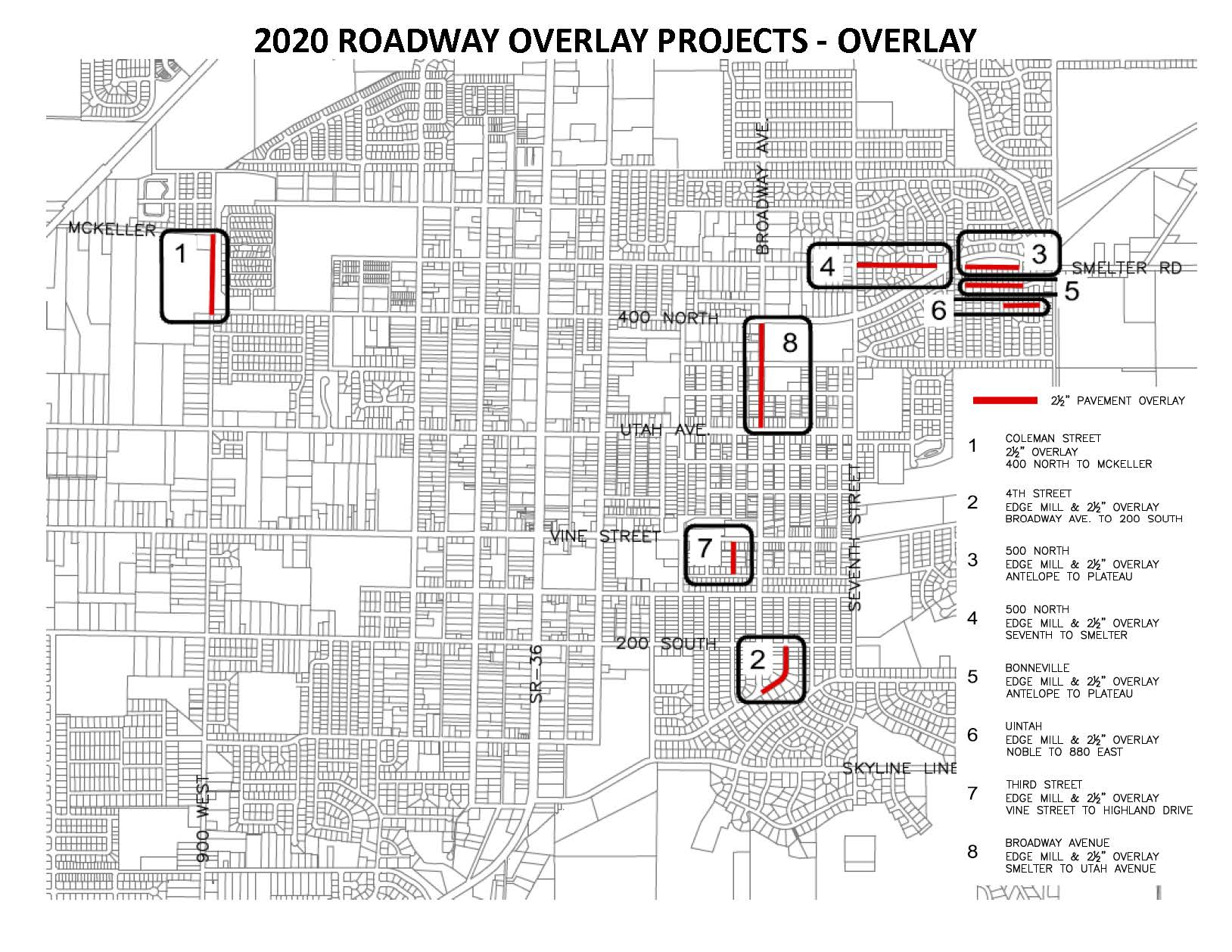 2020 Roadway Overlay Projects