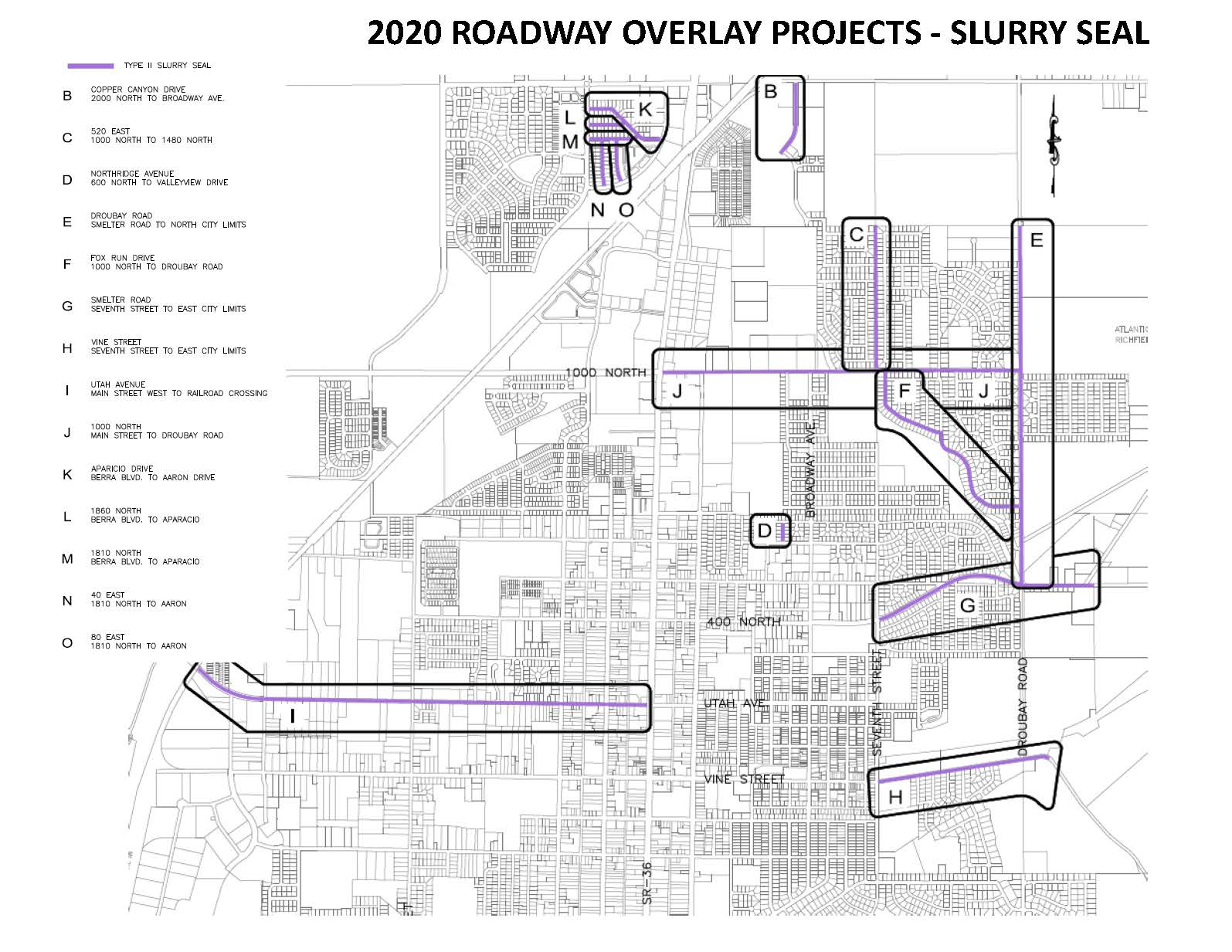 2020 Roadway Projects - Slurry Seal