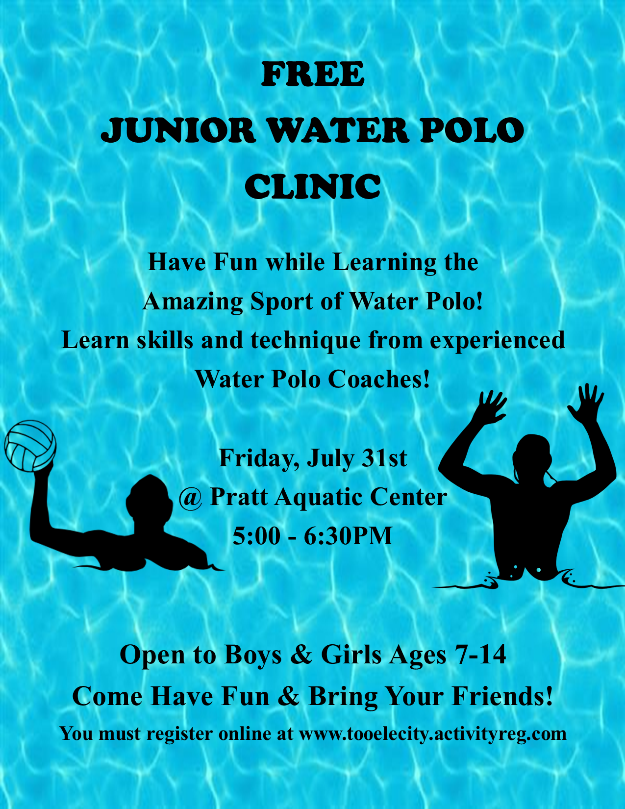 Junior Water Polo Clinic @ Pratt Aquatic Center