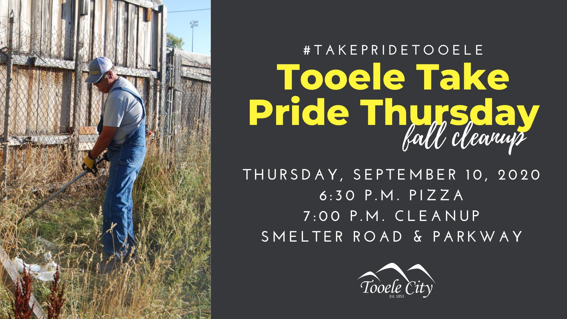 #TakePrideTooele Thursdays Fall Cleanup @ Meet at Smelter Park
