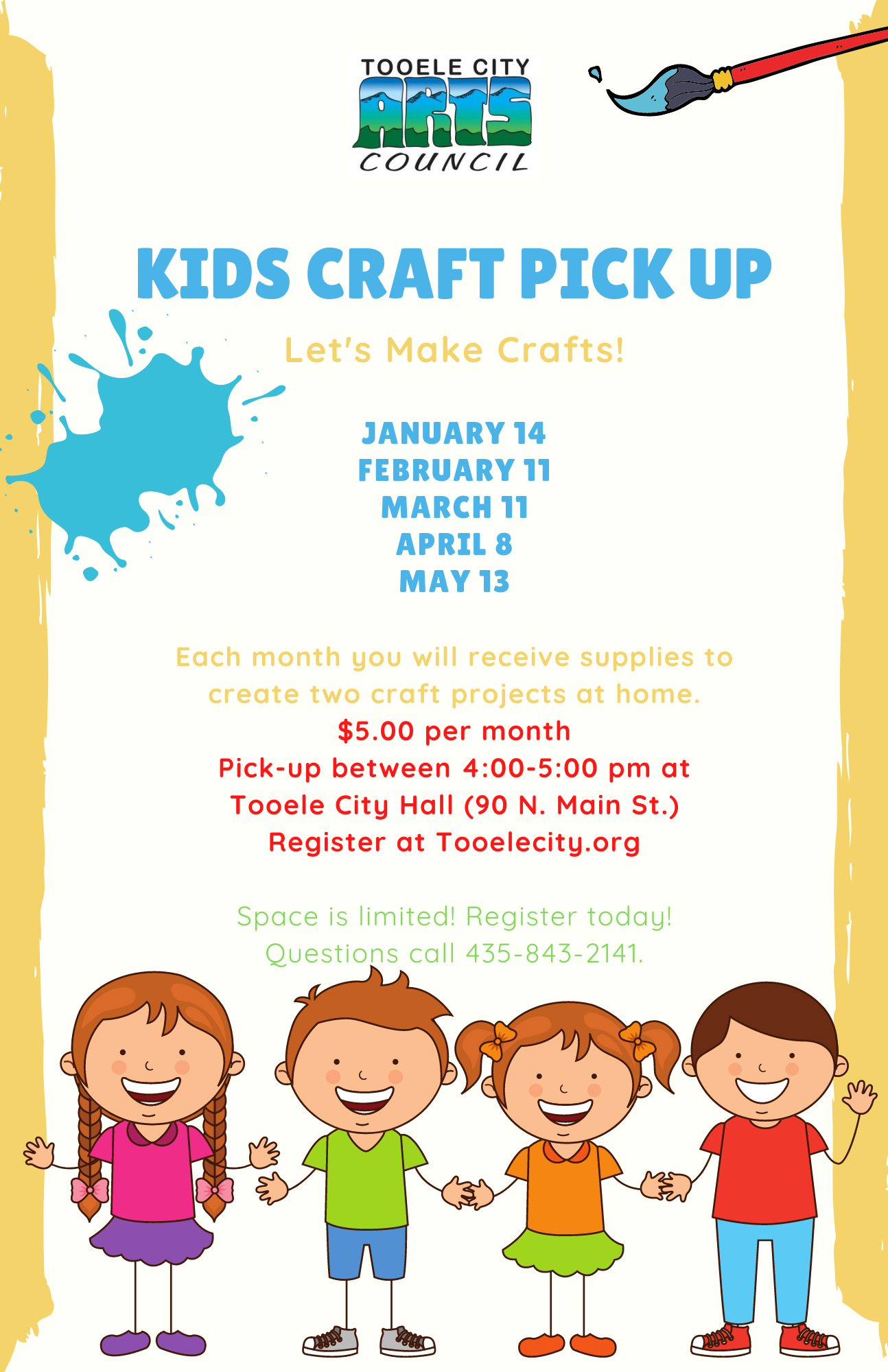 Kids Holiday Craft Pick Up - March @ Tooele City Hall | Tooele | Utah | United States