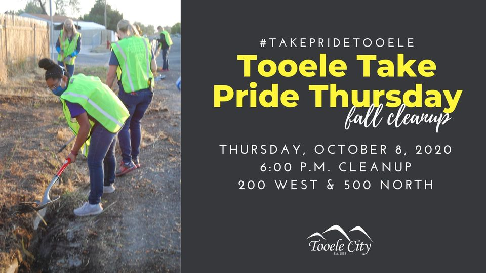 #TakePrideTooele Fall Clean Up October 8, 2020