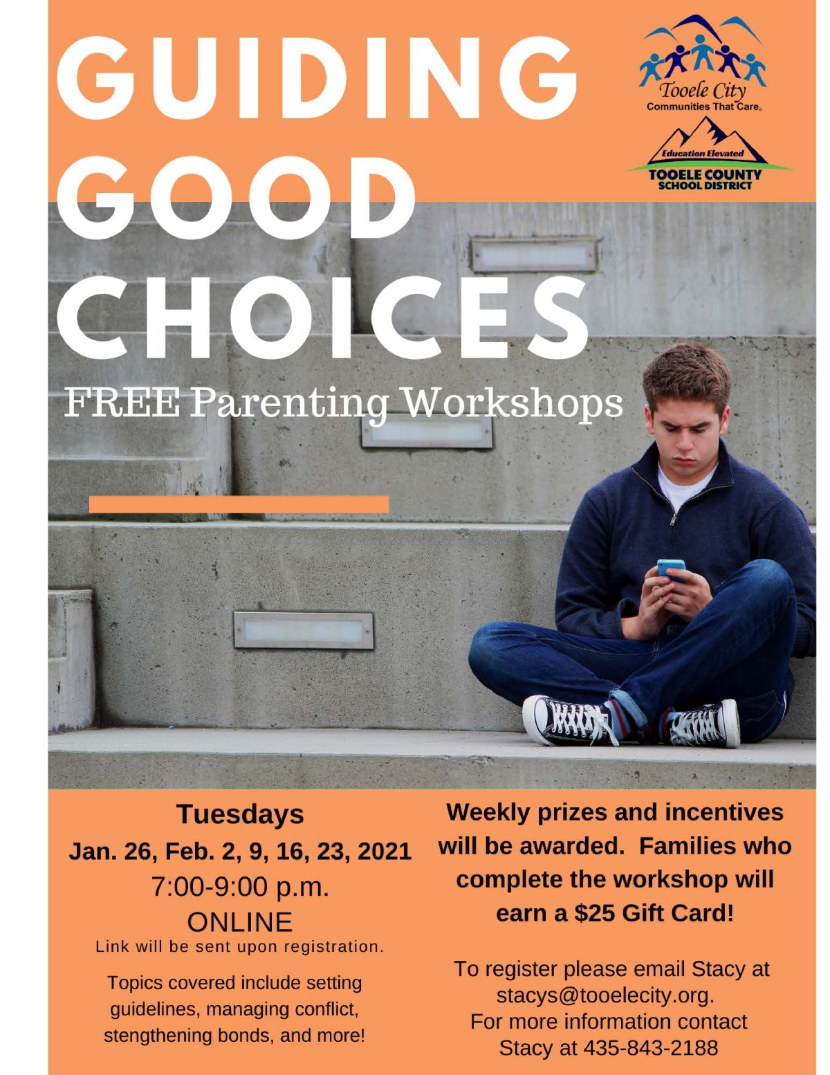 Guiding Good Choices FREE Parenting & Family Workshops (Online) @ Online | Tooele | Utah | United States