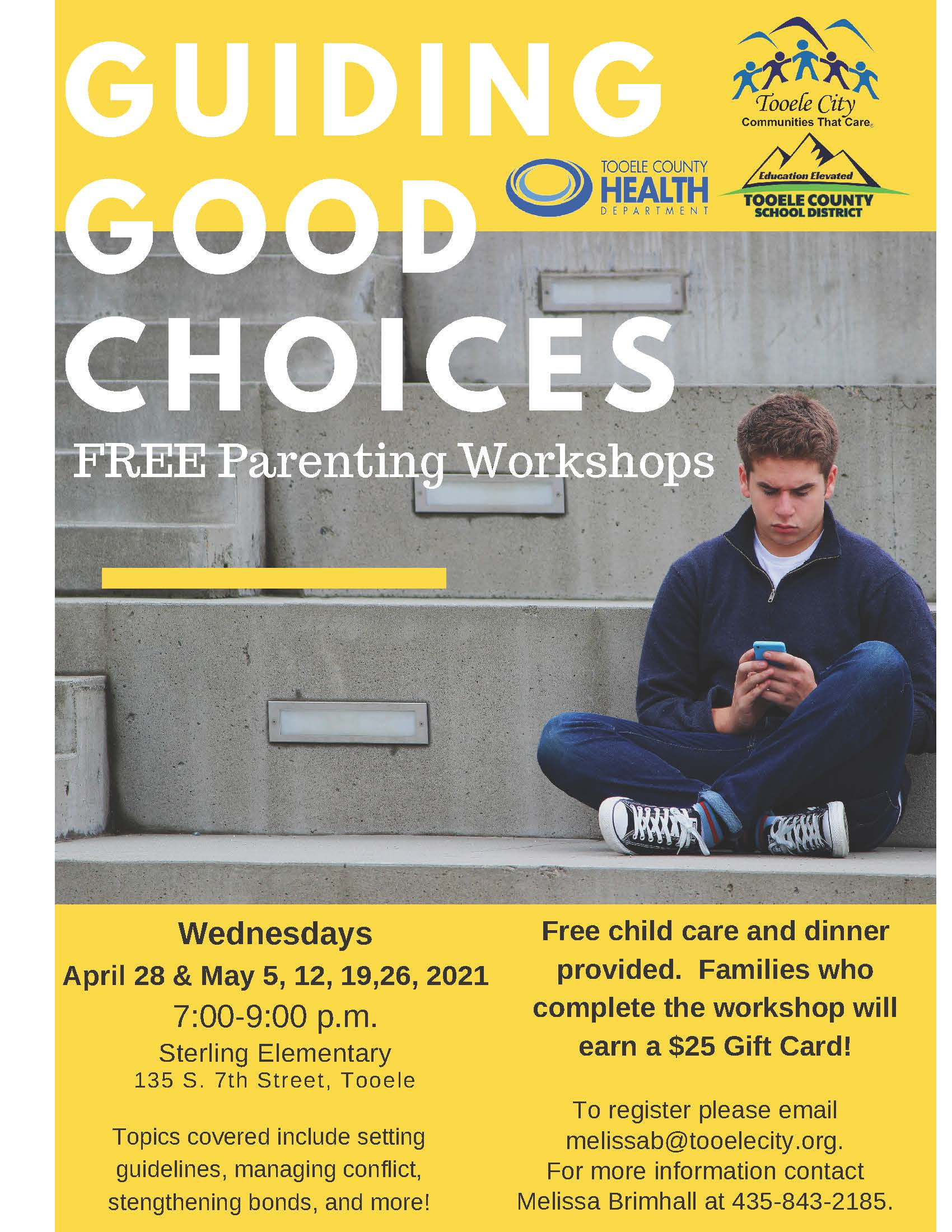 Guiding Good Choices FREE Parenting & Family Workshops (Wednesday Nights) @ Sterling Elementary School | Tooele | Utah | United States