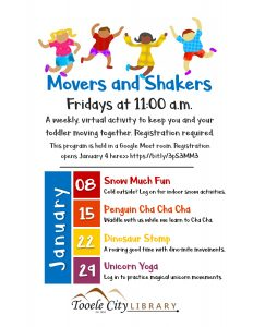 Dinosaur Stomp (Movers & Shakers) @ Online - Tooele City Library