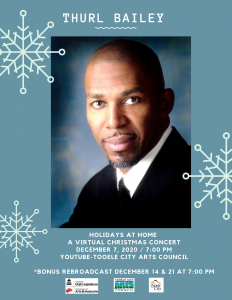 Virtual Holiday Concert with Thurl Bailey @ YouTube-Tooele City Arts Council | Tooele | Utah | United States