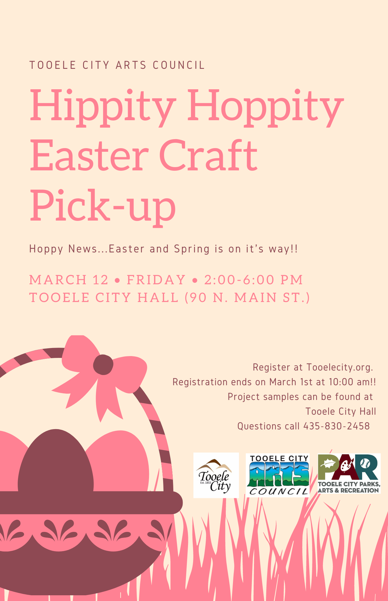 Hippity Hoppity Easter Craft Pick Up @ Tooele City Hall | Tooele | Utah | United States