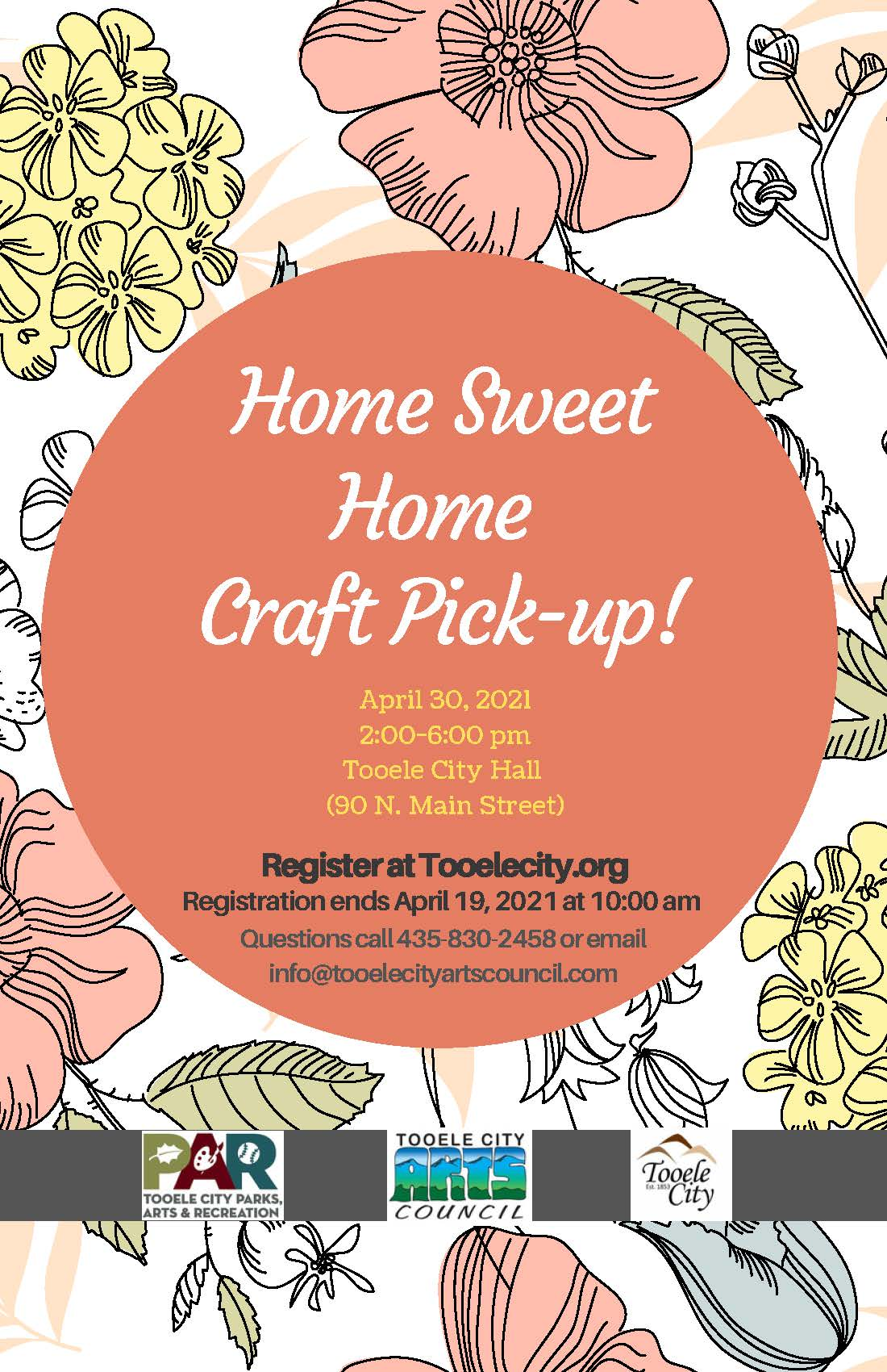Home Sweet Home Craft Pick Up @ Tooele City Hall | Tooele | Utah | United States